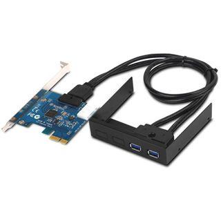 Silverstone SST-EC03 Internal Dual Port USB 3.0 Card schwarz