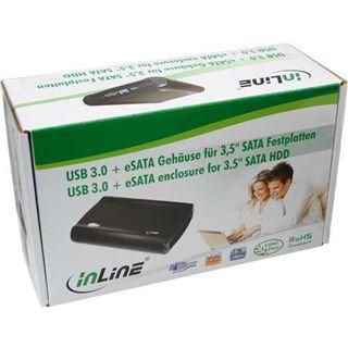 """InLine Gehäuse für SATA Festplatte 3.5"""" (8,89cm) eSATA/USB 3.0 schwarz"""