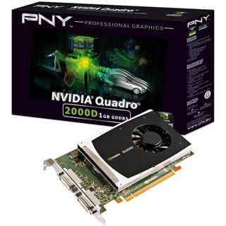 1GB PNY Quadro 2000D Low Profile Aktiv PCIe 2.0 x16 (Retail)