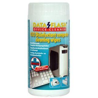 Kleinmann DataFlash Peripherie-Geräte Reinigungstuch 100 Stück Spenderdose (DF 1712)
