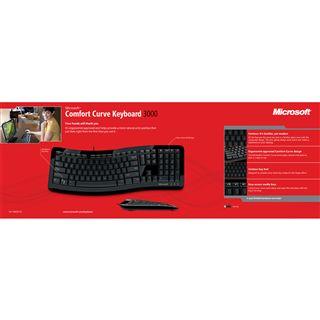 Microsoft 3000 USB Deutsch schwarz (kabelgebunden)