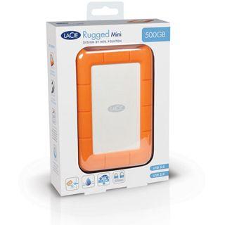 "500GB LaCie Rugged Mini 301556 2.5"" (6.4cm) USB 3.0 silber/orange"
