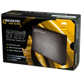 "Revoltec Alu-Line III EX207 2.5"" (6,35cm) USB 3.0 schwarz"