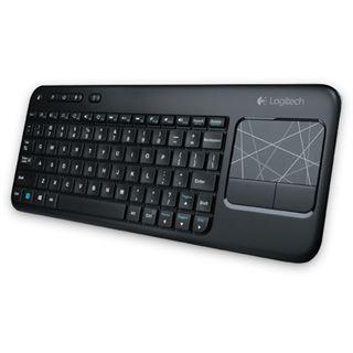 Logitech K400 Wireless Touch Keyboard USB Deutsch schwarz (kabellos)