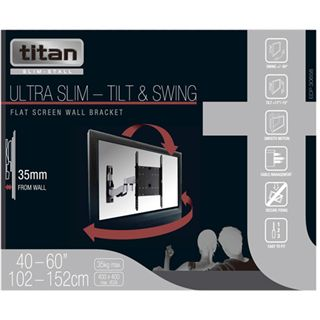 Vivanco Ultra Slim A6035 Wandhalterung schwarz/silber