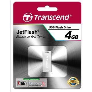 4 GB Transcend JetFlash T3S silber USB 2.0