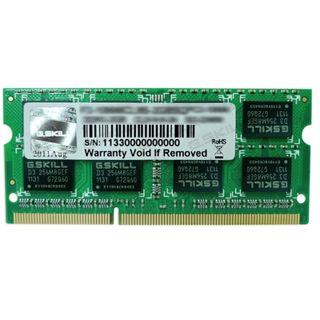 8GB G.Skill SQ Series DDR3-1600 SO-DIMM CL11 Dual Kit