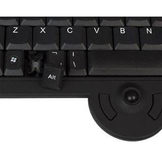 KeySonic KSK-5210 RF Deutsch schwarz (kabellos)