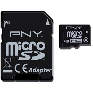 4 GB PNY Optima SDHC Class 4 Retail inkl. Adapter