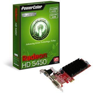 512MB PowerColor Radeon HD 5450 Silent Passiv PCIe x1 (Retail)