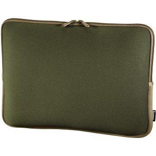 Hama Notebook-Sleeve Neoprene, Displaygrößen bis 34 cm (13,3), Grün/Braun