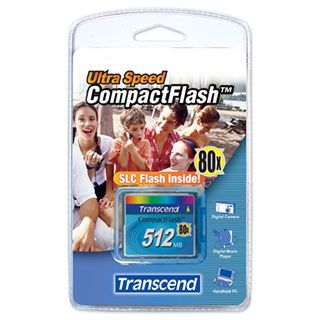 512 MB Transcend Ultra Compact Flash TypI 80x Retail