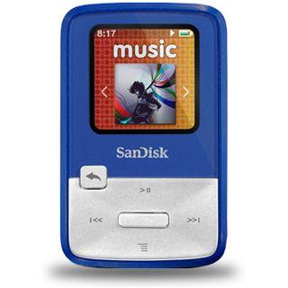 4GB SanDisk Sansa MP3 Clip Zip Blue 4GB (SDMX22-004G-E46B) retai