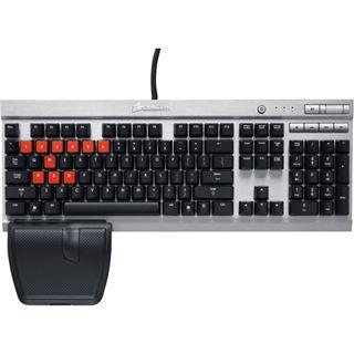 Corsair Vengeance K60 CHERRY MX Red USB Deutsch silber/schwarz (kabelgebunden)