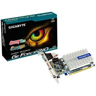 1GB Gigabyte GeForce 210 Passiv PCIe 2.0 x16 (Retail)