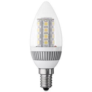 LED Kerzenlampe E14, Klarglas, mit LED Cluster, weiß mix, 220 lm, 3,3W, 230V, 3200K