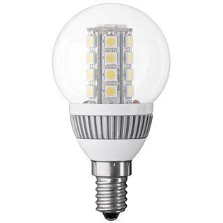 Mini Globelampe E14, Klarglas, mit LED Cluster, weiß mix, 220 lm, 3,8W, 230V, 3200K