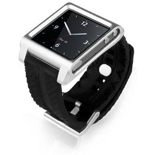 RaidSonic Icy Box Armband für iPod Nano aus Aluminium/Silikon IB-i062 schraubenlos, silber