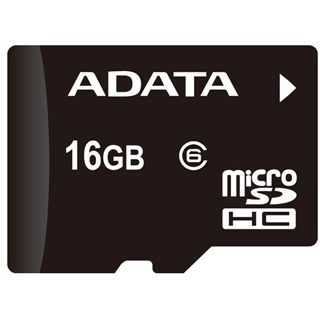 16 GB ADATA SDHC microSDHC Class 6 Bulk