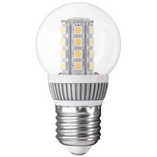 Globelampe E27, Klarglas, mit LED Cluster, weiß mix, 220 lm, 3,8W, 230V, 5500K