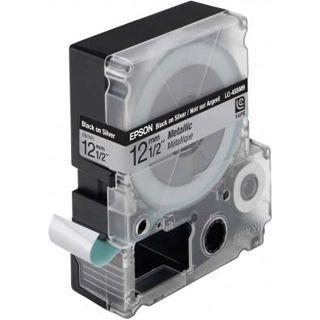 Epson LC-4SBM9 silber Etikettenkassette (1 Rolle (1.2 cm x 9 m))