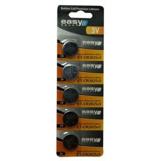 Easy Touch Knopfzelle CR2025 Lithium 3.0 V 5er Pack
