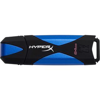 64 GB HyperX DataTraveler 3.0 schwarz/blau USB 3.0