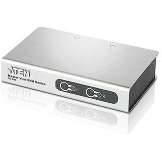 ATEN Technology CS72ECZ-AT 2-fach Desktop KVM-Switch