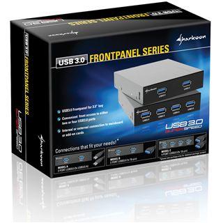 "Sharkoon 4x USB 3.0 auf 2x 19-pol C Front Panel für 3,5"" (4044951012220)"