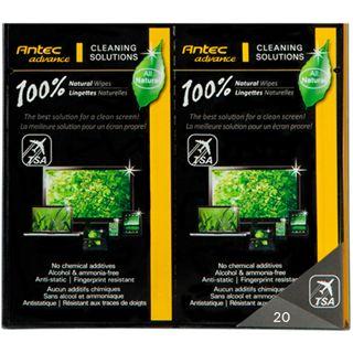 Antec 100% Natural Wipes elektronische Geräte Reinigungstuch 20 Stück (0-761345-77450-5)