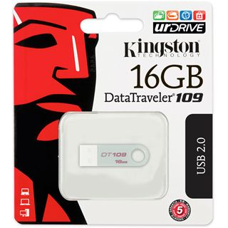 16 GB Kingston DataTraveler 109 silber USB 2.0