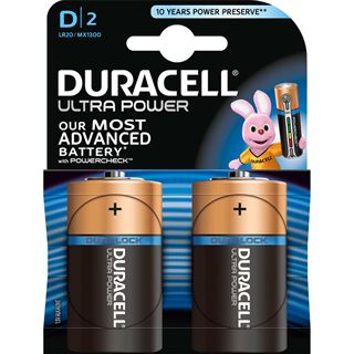 Duracell Ultra Power LR20 Alkaline D Mono Batterie 1.5 V 2er Pack
