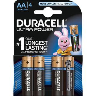 Duracell Ultra Power LR6 Alkaline AA Mignon Batterie 1.5 V 4er Pack
