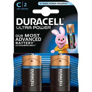 Duracell Ultra Power LR14 Alkaline C Baby Batterie 1.5 V 2er Pack
