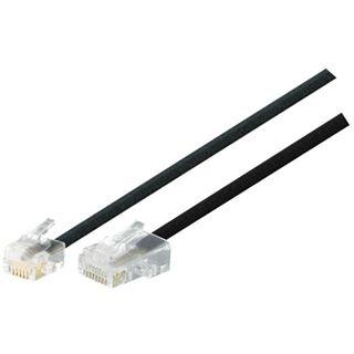 1m Modular-Anschlusskabel RJ11 St. (6P4C) auf RJ45 St. (8P4C) schwarz