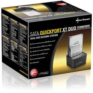 "Sharkoon SATA Quickport XT Duo USB 3.0 Dockingstation für 2.5"" und 3.5"" Festplatten (4044951012312)"