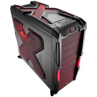 AeroCool Strike-X Advance Devil Red Midi Tower ohne Netzteil schwarz/rot