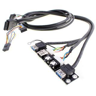 Silverstone 2x USB 3.0 schwarz Montagekit für Gehäuse (G11303500)