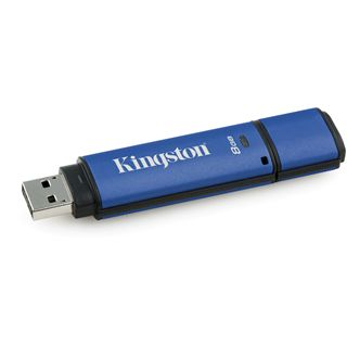 8 GB Kingston DataTraveler Vault Privacy Managed blau USB 2.0