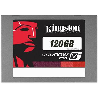 "120GB Kingston SSDNow V+ 200 2.5"" (6.4cm) SATA 6Gb/s MLC asynchron (SVP200S3/120G)"