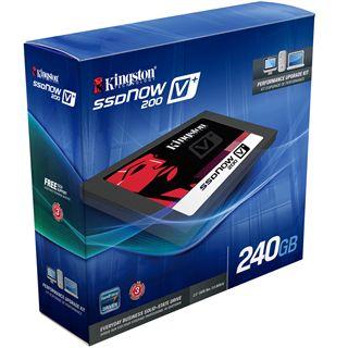 """240GB Kingston SSDNow V+ 200 2.5"""" (6.4cm) SATA 6Gb/s MLC asynchron (SVP200S3/240G)"""
