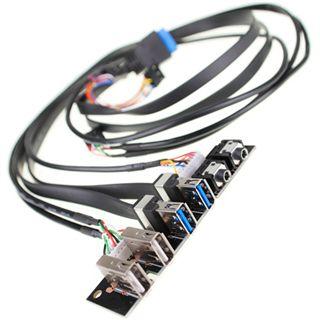 BitFenix I/O Panel USB 3.0/USB 2.0/Audio Erweiterung für Shinobi/Shinobi Core/Outlaw (BFC-SNB-150-U3PCB-RP)