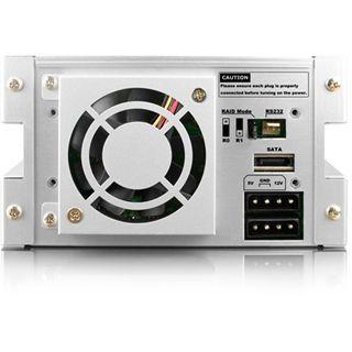 "ICY BOX RAIDON iR2620-2S-S2 3.5"" (8,89cm) SATA schwarz/silber"