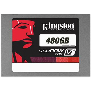 "480GB Kingston SSDNow V+ 200 2.5"" (6.4cm) SATA 6Gb/s MLC asynchron (SVP200S3/480G)"