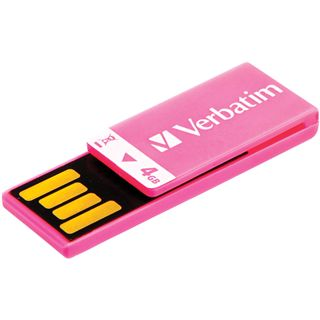 4 GB Verbatim Clip-it USB Drive pink USB 2.0