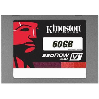 """60GB Kingston SSDNow V+ 200 Kit 2.5"""" (6.4cm) SATA 6Gb/s MLC asynchron (SVP200S3B/60G)"""