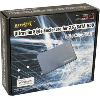 "LC-Power LC-PRO-25BUB 2.5"" (6,35cm) USB 2.0 schwarz/silber"