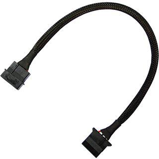 Nanoxia 30 cm schwarzes Verlängerungskabel für 4-Pin Molex (NX4PV3E)