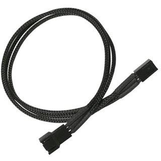 Nanoxia 30 cm schwarzes Verlängerungskabel für 3-Pin Molex (NX3PV3E)