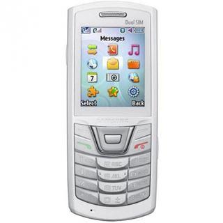 Samsung E2152 Dual-SIM Ceramic White ohne Simlock ohne Branding